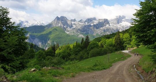 Peaks Of The Balkans trail from Cerem to Doberdol